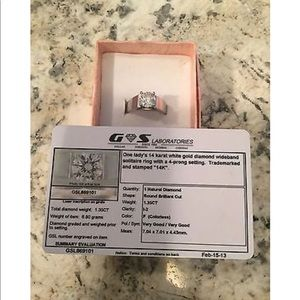 1.35 CT Certified Natural Diamond 14k Engagement